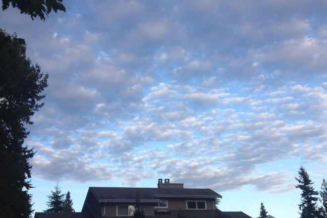 Beautiful Clouds Surrey, British Columbia Canada