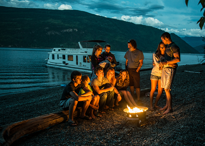 Houseboating fun Sicamous, British Columbia Canada