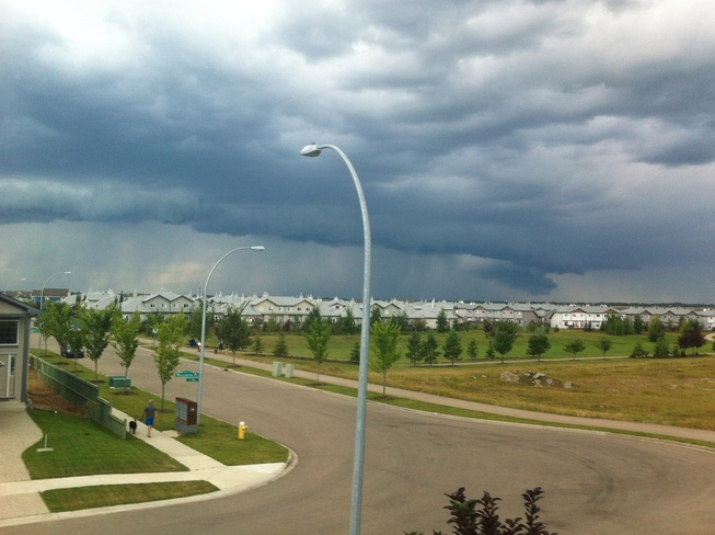 Evening Storm Brewing Fort Saskatchewan, Alberta Canada