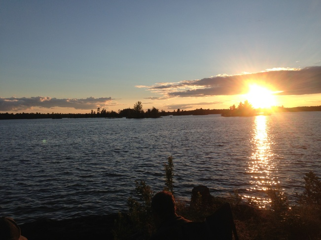 Sun Set On Lingham Lake Madoc, Ontario Canada