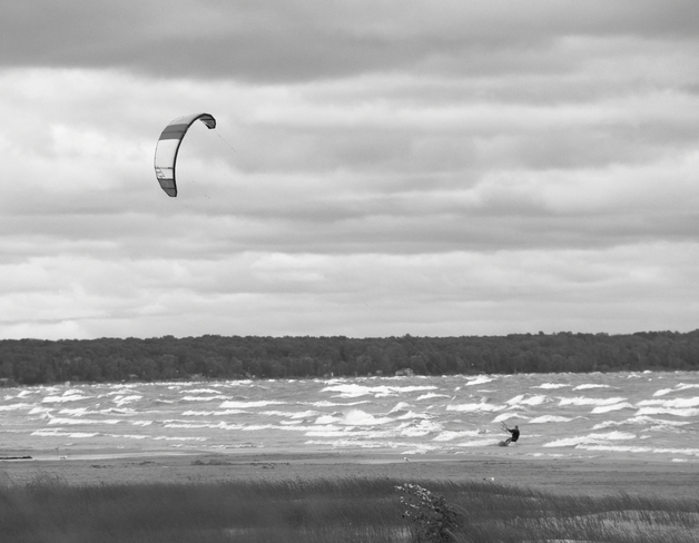 Cold and Windy at Sauble Beach Sauble Beach North, Ontario Canada