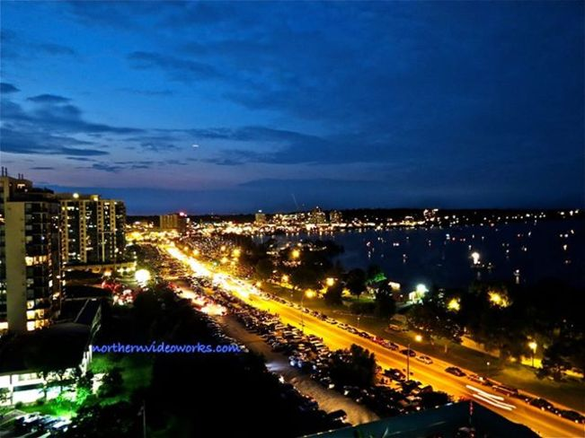 Picture of Barrie at Night Barrie, Ontario Canada