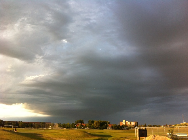 some scary looking clouds Winnipeg, Manitoba Canada