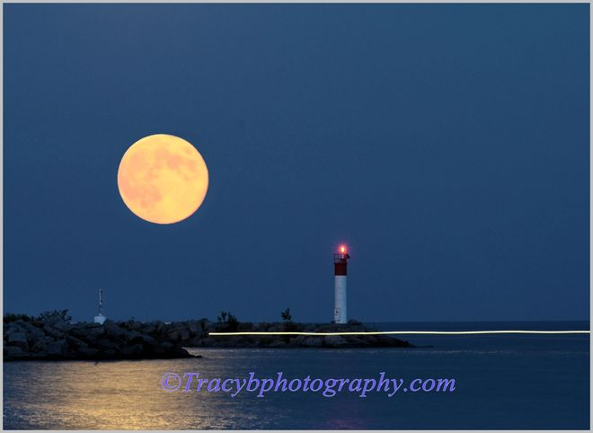 August .Blue Moon. Port Dover, Ontario Canada
