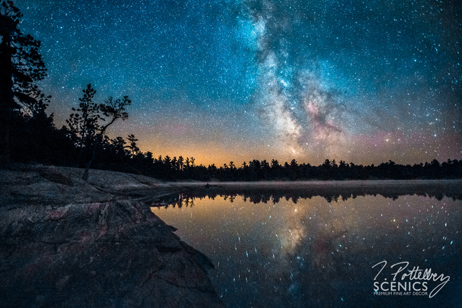 Milky Way Over Clear Lake Britt, Ontario Canada