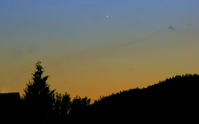 Venus in the evening twilight Kelowna, British Columbia Canada