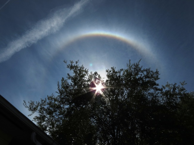 sun halo Courtenay, British Columbia Canada