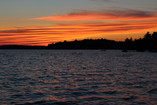sunset Mahone Bay, Nova Scotia Canada