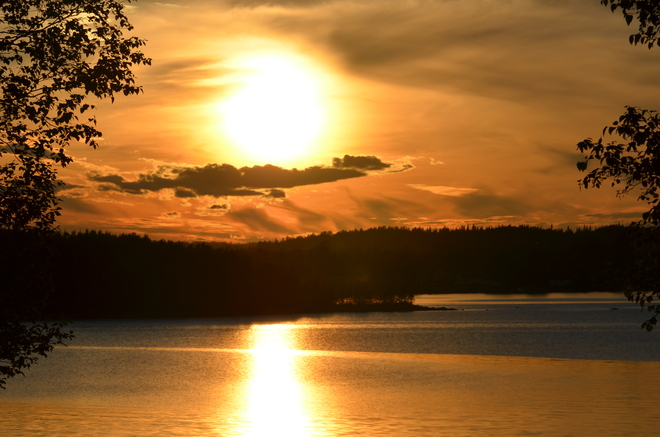 perfect sunset from the patio Lewisporte, Newfoundland and Labrador Canada