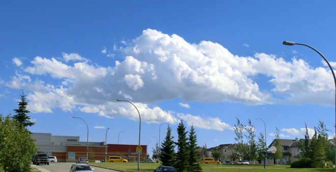 Clouds over Panorama Square Calgary, Alberta Canada