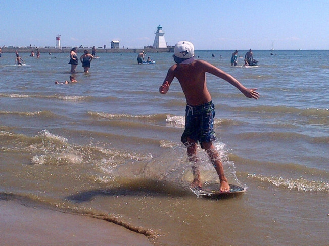 last wave of the summer Port Dover, Ontario Canada