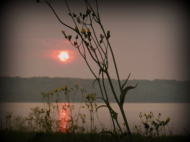 August Sunrise Fort Qu'Appelle, Saskatchewan Canada