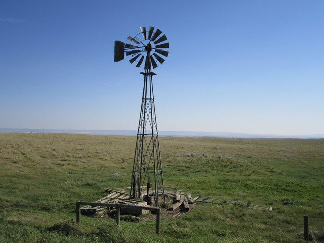 old windmill Maple Creek, Saskatchewan Canada