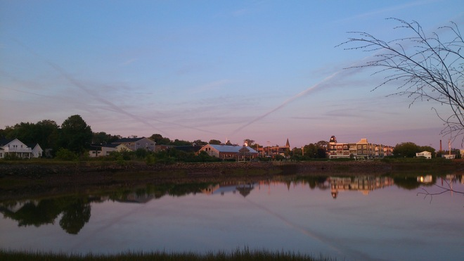 Wolfville Harbour Reflection from sunrise Wolfville, Nova Scotia Canada