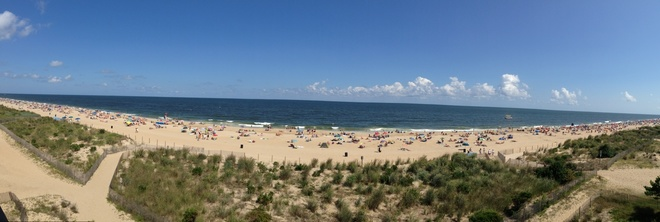 Panorama of the Ocean Ocean City, Maryland United States