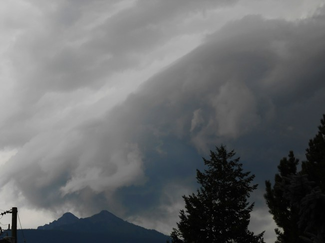 storm cloud Revelstoke, British Columbia Canada