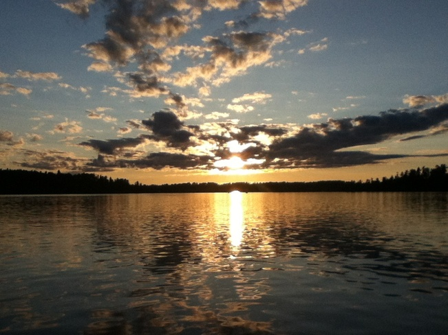 Beautiful Sunset Lake of The Woods, Ontario Canada