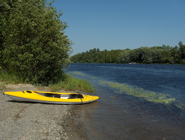 Kayak On Spanish River Massey, Ontario Canada