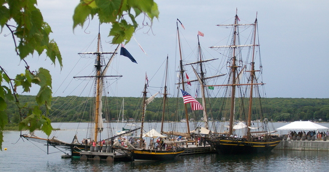 Tall Ships in Discovery Harbour Midland, Ontario Canada