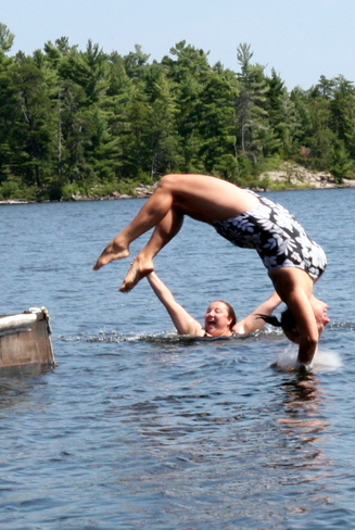 Back flip! French River, Ontario Canada