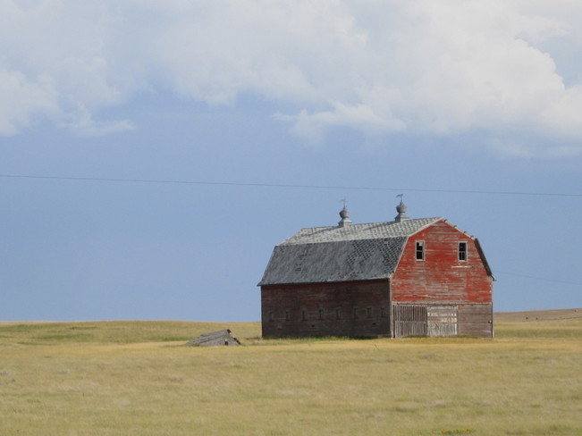 the old red barn Maple Creek, Saskatchewan Canada