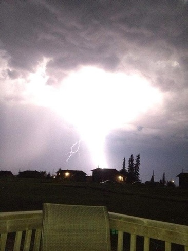huge lightning bolt Badgerville, Saskatchewan Canada