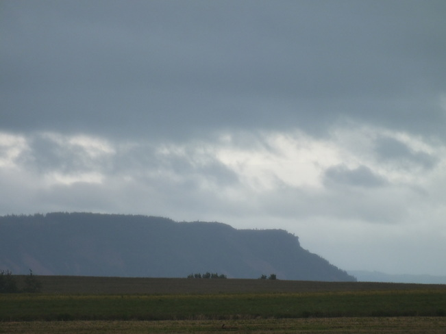 storm clouds over Cape Blomidon Canning, Nova Scotia Canada