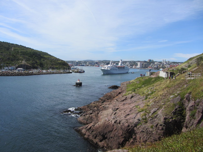 Cruise Ship Leaving Port St. John's, Newfoundland and Labrador Canada