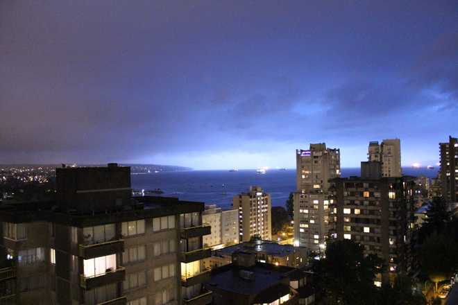 My first Lightening picture Vancouver, British Columbia Canada