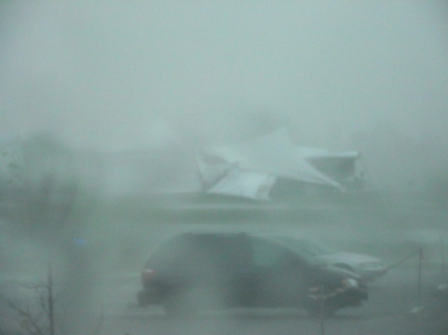 The storm hit Kemptville, Ontario Canada