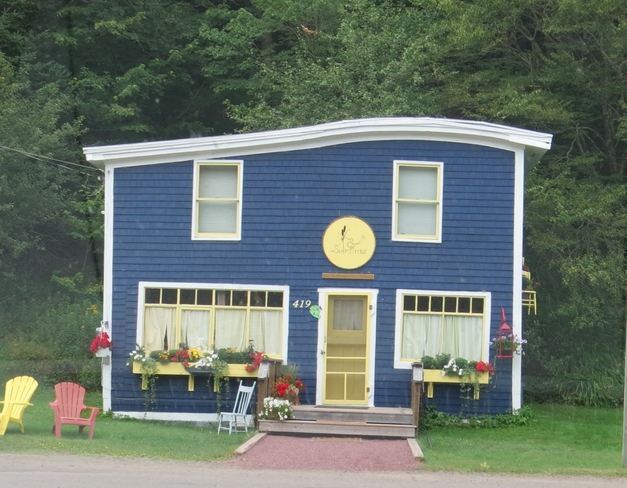 colorful house in Saint-Martin,s Saint Martins, New Brunswick Canada