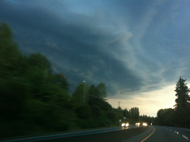 Storm on way to Errington Errington, British Columbia Canada