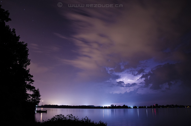 lightining over StLawrence Akwesasne, Ontario Canada