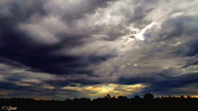 Dramatic sky this morning Smiths Falls, Ontario Canada