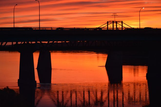 Labor Day sunset Prince Albert, Saskatchewan Canada