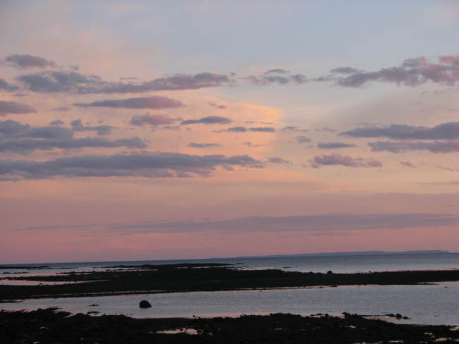 purple sunset Maces Bay, New Brunswick Canada