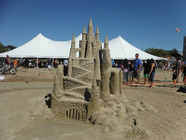 sand castle Sauble Beach, Ontario Canada