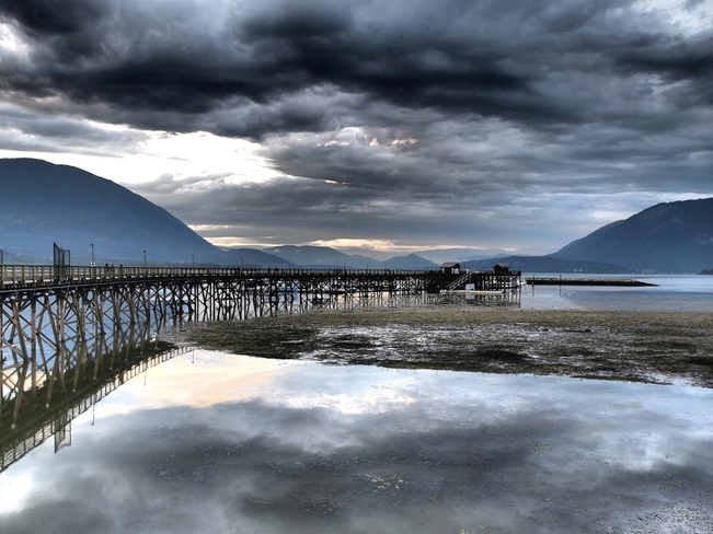 Storm over the Salmon Arm Wharf Salmon Arm, British Columbia Canada