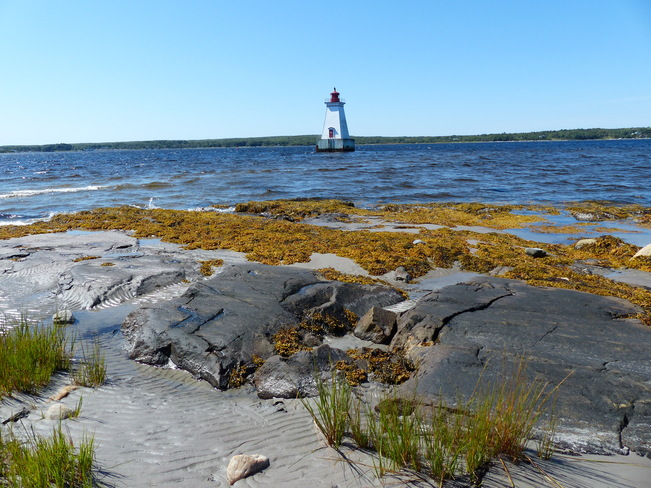 Sandy Point Lighthouse Shelburne, Nova Scotia Canada