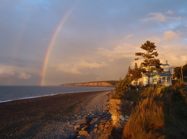 Rainbows & Cliffs at Sunset Aylesford, Nova Scotia Canada