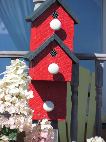 Bird houses in Black River Saint George, New Brunswick Canada