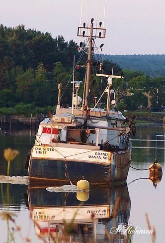 Resting in the Basin Annapolis Royal, Nova Scotia Canada