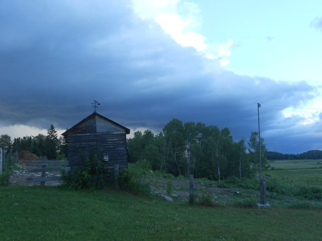 storm building North Bay, Ontario Canada