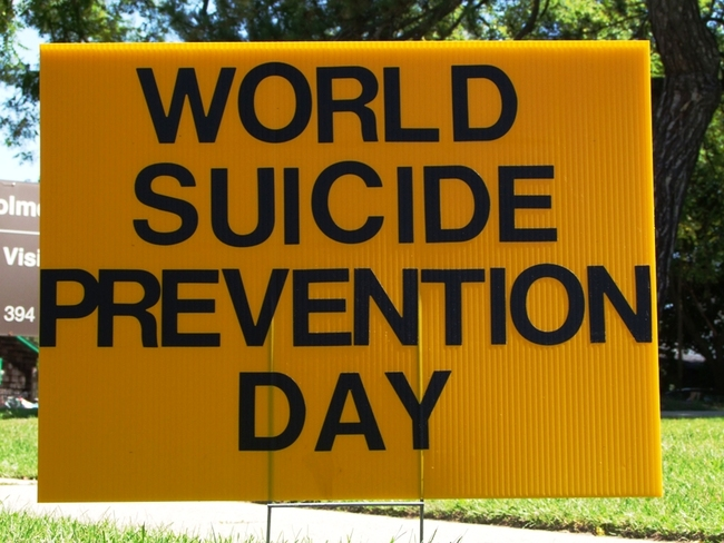 International World Suicide Prevention Day Simcoe, Ontario Canada