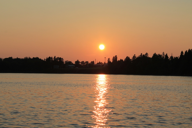 Sunset on beautiful Mill River, PEI Mill River East, Prince Edward Island Canada