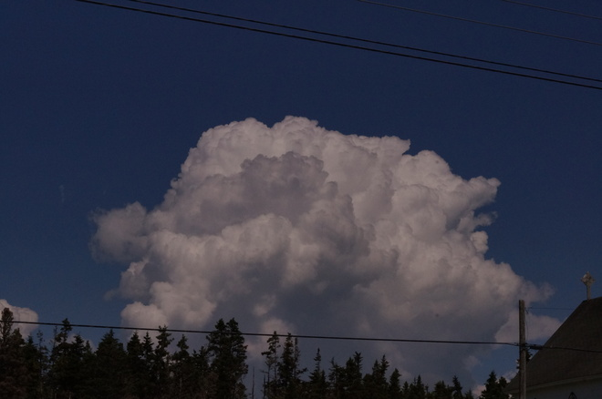 puffy clouds Ecum Secum, Nova Scotia Canada
