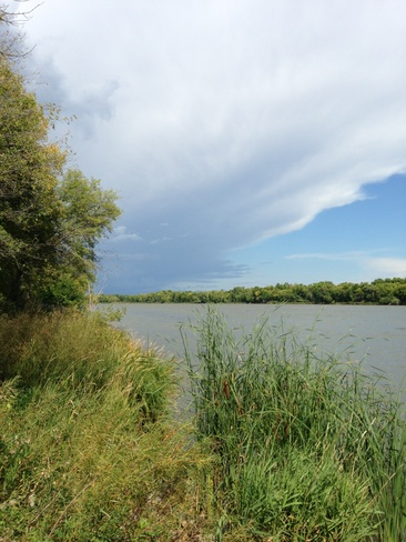 Red River before Storm Selkirk, Manitoba Canada