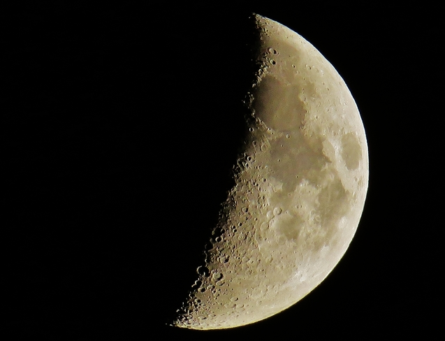 1st Quarter Moon over North Bay North Bay, Ontario Canada