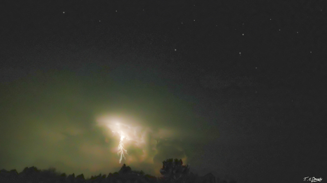 Lightning and Stars Smiths Falls, Ontario Canada