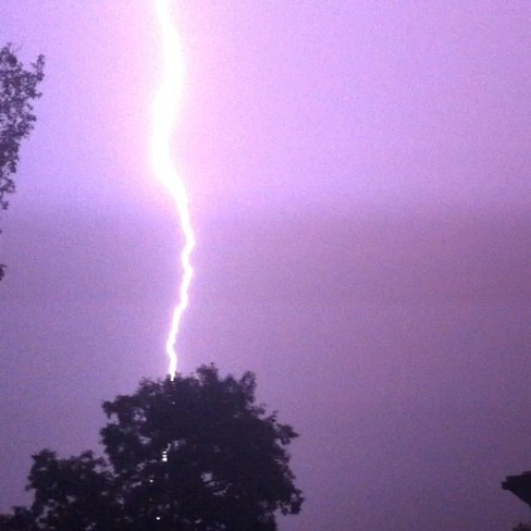 Lightening Strike London, Ontario Canada